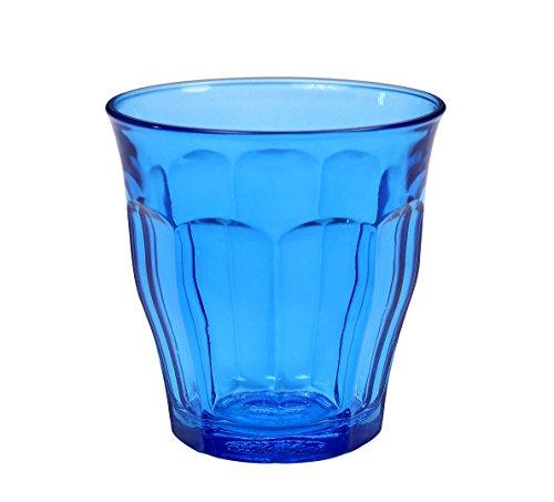 Duralex 1027SR06Picardie–Juego de 6Vasos de Cristal Azul 8,5cm.