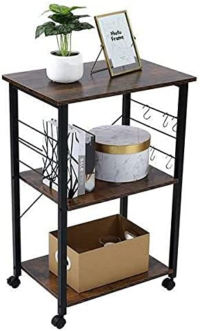 LCSA Max 69% OFF Metal Shelves Small Microwave Rac Stand Kitchen Bakers Oven San Jose Mall