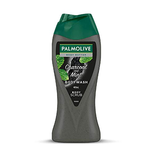 Palmolive Body Wash Charcoal and Mint Shower Gel, 400ml