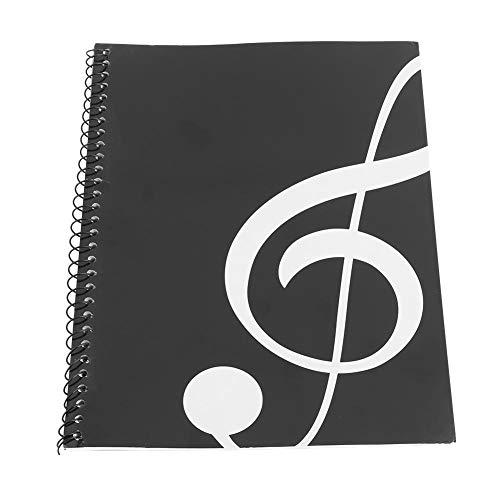 Bnineteenteam 50 Seiten leeres Notenheft Notenmanuskript-Briefpapier für Notenmanuskript-Papier, Stabspapier(Schwarze Note)