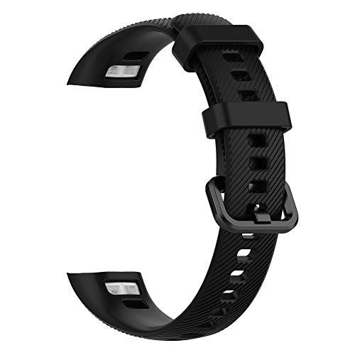 Ersatz Silikon Uhrenarmband, Sport Weiches Silikonarmband Schnellverschluss Kompatibel Streifen mit Huawei Armand 3pro und Band 4 Pro Geeignet zum Schwimmen Tauchen Outdoor-Aktivitäten