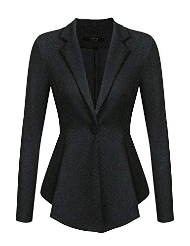 Beyove Womens Casual Work Office Blazer One Button Long Sleeve Cardigan Jacket