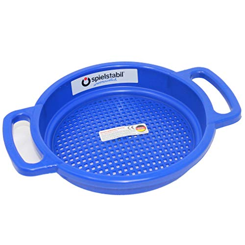 Spielstabil Large Sand Sieve Beach Toy (One Sifter Included - Colors Vary) - Made in Germany