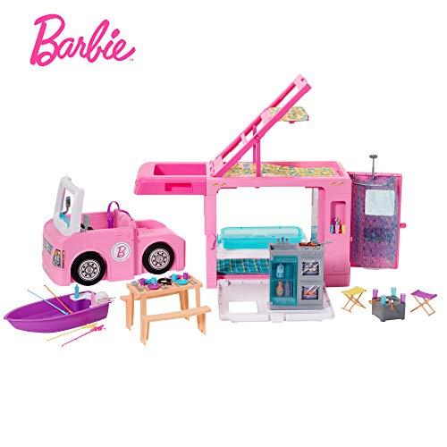 Barbie Muñeca Estate Cámper De 3 En 1