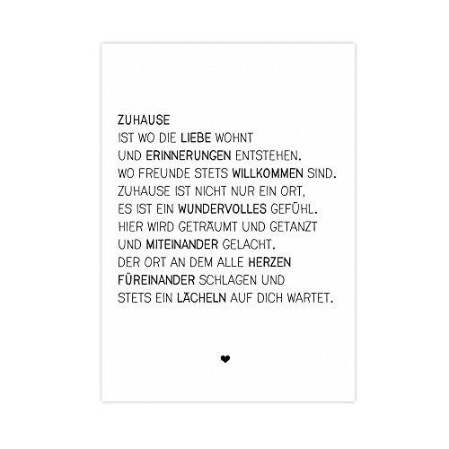 Wunderpixel® Kunstdruck Zuhause - auf wunderbarem Hahnemühle Papier DIN A4 | ohne Rahmen- schwarz-weißer FineArt-Print Poster zur Wand-Dekoration im Büro/Wohnung/als Geschenk-Idee zum Geburtstag