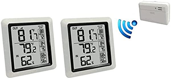 Ambient Weather WS 0270 2 KIT Dual Zone Wireless Outdoor Thermometer With Indoor Humidity WS 0270 2