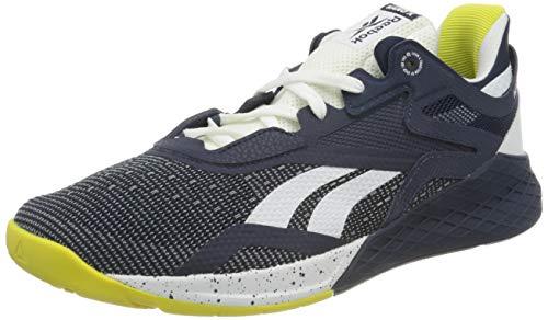 Reebok Herren Nano X Cross Trainer Schuhe, Vector Navy/White/Chartreuse, 40 EU