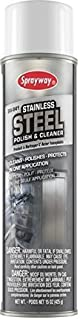 Sprayway Stainless Steel Cleaner, 15oz Can, Pack of 2 (841)