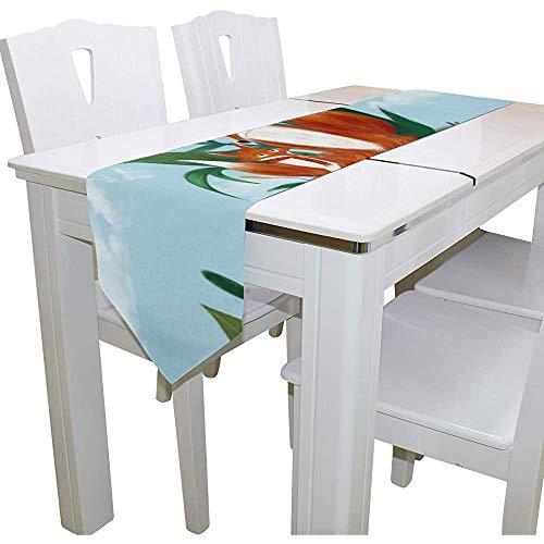 sunnee-shop Fox Papa en tafelloper, tafelkleed van polyesterweefsel, Multi177