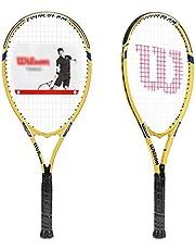 Raquetas De Tenis Para Principiantes Raqueta De Estudiante Universitario Masculino Y Femenino Raqueta Simple O Doble Dispositivo De Entrenamiento De Rebote con Cuerda (Color : Yellow-B, Size : 27in)