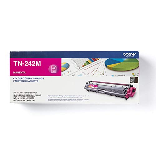 Brother Original Tonerkassette TN-242M magenta (für Brother HL-3142CW, HL-3152CDW, HL-3172CDW, DCP-9017CDW, DCP-9022CDW, MFC-9142CDN, MFC-9332CDW, MFC-9342CDW)