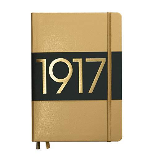 LEUCHTTURM1917 355676 Notizbuch Medium (A5), Hardcover, 251 nummerierte Seiten, dotted, Gold