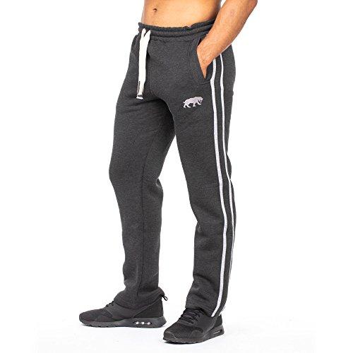 SMILODOX Herren Jogginghose Loose | Trainingshose für Sport Fitness Gym Training & Freizeit | Sporthose - Jogger Pants - Sweatpants Hosen - Freizeithose Lang, Farbe:Anthrazit/Grey, Größe:L
