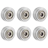 SIMAX3D 3D Printer POM Pulley Wheels, Plastic Linear Bearing Pulley Passive Round Wheel Roller Compatible for Creality Ender 3 Series, CR-10 Series, Anet A8, Mega S 3D Printer (6)