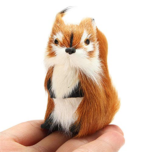 Furry Squirrel Ornament Decoration Adornment Hanging Tree Fleece Home Decor Miniatures Great Children Gift