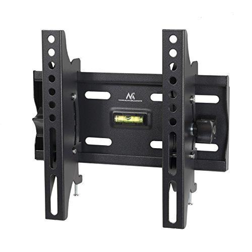 "Maclean MC-667 - Soporte fijo de pared para pantalla LCD LED TV (23-42"", 30kg, VESA) Color negro Nivel incorporado"