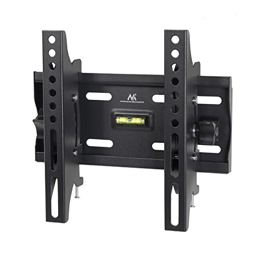 Maclean MC-667 - Soporte Fijo de Pared para Pantalla LCD LED TV (23-42', 30kg, VESA) Color Negro Nivel Incorporado