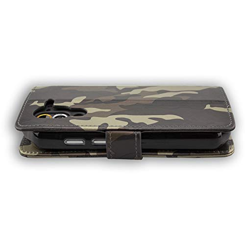 caseroxx Handy Hülle Tasche kompatibel mit Cat S60 Bookstyle-Hülle Wallet Hülle in Camouflage