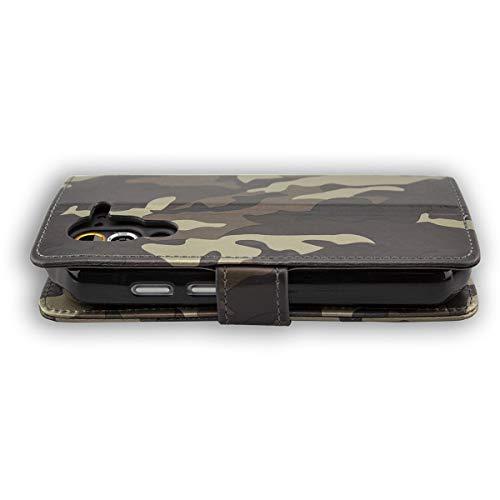 caseroxx Tasche für Cat S60 Bookstyle-Case in Camouflage Cover Buch