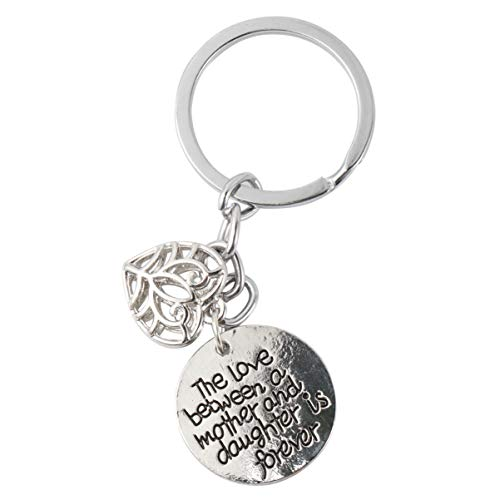 Amosfun Mom Gifts from Daughter The Love Between A Mother Daughter is Forever Keychain Mother Daughter Inspirational Jewelry for Gift Birthday Christmas