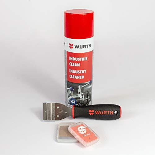 Würth Reiniger Industrie Clean 500 ml & Würth Kunststoff Schaber