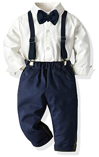 Yokald Ensemble de vêtements pour bébé garçon avec nœud...
