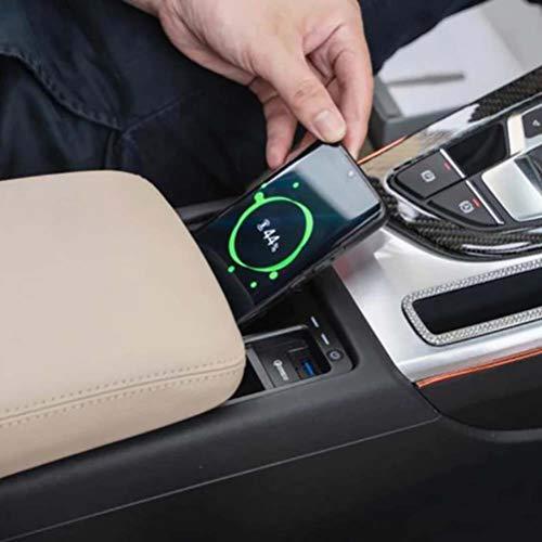 15W Car QI cargador de teléfono de carga inalámbrica estuche de carga rápida accesorios de soporte de teléfono para Audi A4 B9 A5 S4 RS4 S5 RS5