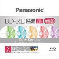 パナソニック ブルーレイディスク 録画用2倍速 25GB(単層 書換型) 5枚パック Aroma LM-BE25S5A
