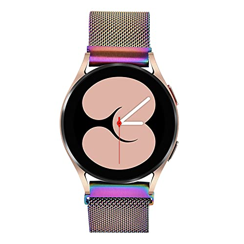 Koreda Compatible with Samsung Galaxy Watch 46mm/Galaxy Watch 3 45mm/Gear S3 Frontier/Classic Band, 22mm Stainless Steel Mesh Loop Bracelet Strap Replacement for Ticwatch Pro/Galaxy Watch 46mm Smartwatch