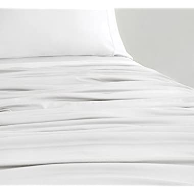 SHEEX EXPERIENCE Cooling Sheet Set with 2 Pillowcases, Ultra-Lightweight, Breathable, Silky-Soft Fabric for a Cool and Comfortable Night's Sleep, White (King)