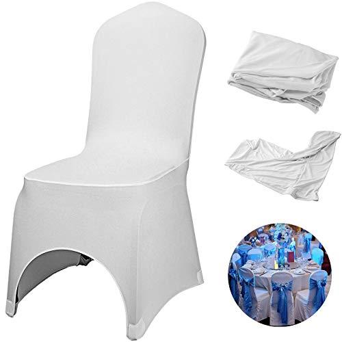 YJGYMZ witte stoelhoezen 100 Stks Stretch Polyester Spandex Slipcovers voor banket dineren partij bruiloft Decoraties Stoel Cover