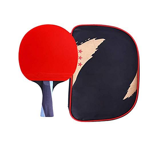 Single Tafeltennisracket Tafeltennis Racket Briefpapier Krasvrij Kinderen Buitenshuis Hoge Kwaliteit Sport Volwassene Oefening Houten Binnen Buiten Verdikken
