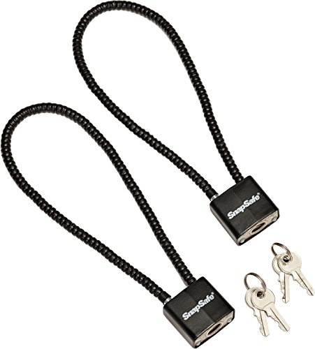 Snapsafe Cable Padlock – Solid Steel - 2 pack (Item No. 75281)