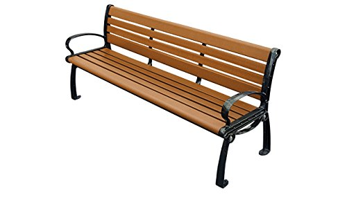 Kirby Built Products 6' Recycled Plastic Madison Bench - Cedar