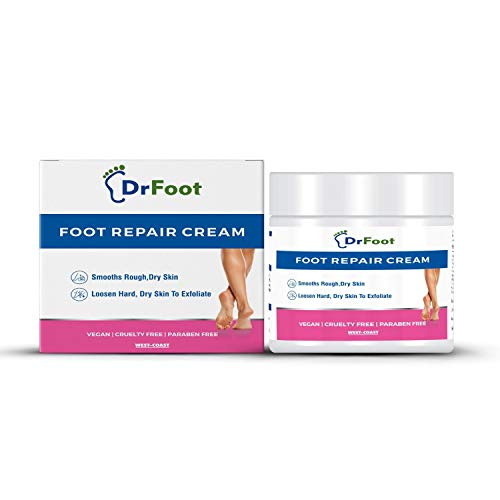 Dr Foot Foot Repair Cream, Foot Fungus, Dry Cracked Feet and Smelly Feet with Essential Oils - Tea Tree Oil, Antifungal Treatment Foot Repair - 100 gm