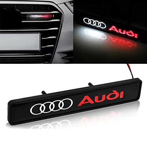 Auto-Front Grilled Stern Emblem LED beleuchtetes Logo Zentrum Front-Abzeichen-Lampen-Licht für Audi (kann angepasst Logo Werden)
