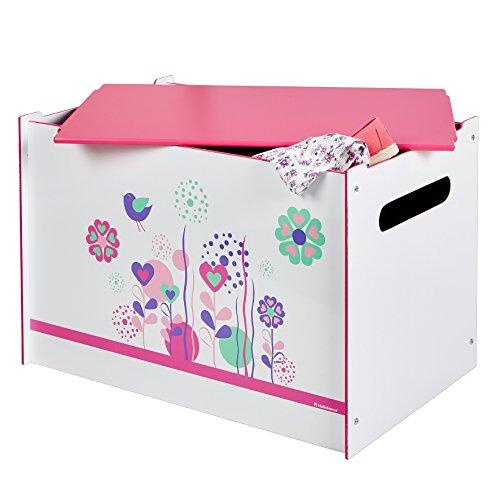 Spielzeugtruhe Worlds Apart Blumen und Vögel, weiß, 60×39,5×39,5cm - 5