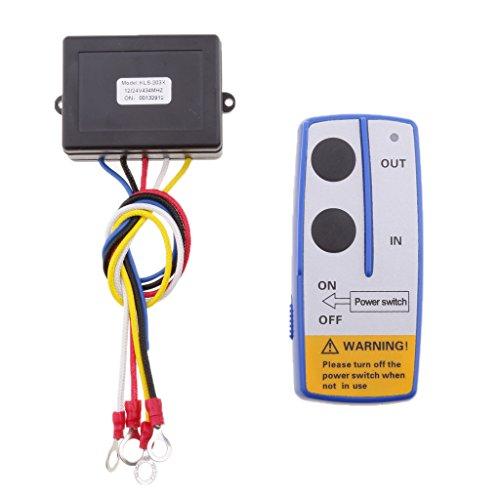 Sharplace 12/24 V 98ft Drahtlose Elektrische Seilwinde Motorwinde Fernbedienung Türöffner Fernsteuerung Set für Fahrzeuge