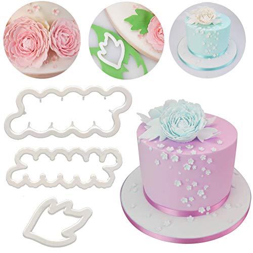 Cake Decoration SAKOLLA Carnation Cake Fondant Mold Gumpaste Icing Flower Silicone Embossing Mat for Sugarcraft