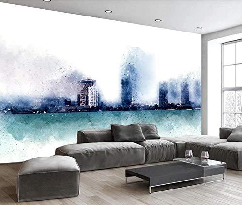 Papel Pintado Pared 3D Ciudad Nórdica Abstracta Dibujada A Mano Moderno Dormitorio Salon Decoracion murales