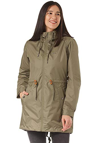 mazine - Damen - Rain Parka 'Library Light' - Grün - XS