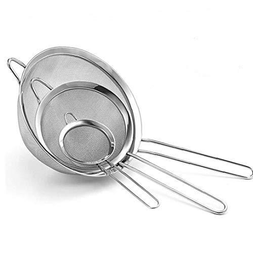 ZBBN 3 Stück Mehlfilter Mesh Sieb Sieb Mehlsieb Sieb Sieb Praktische Backwerkzeuge