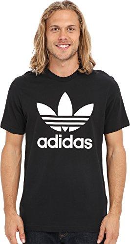adidas Originals Men's Trefoil Tee, Large, Black