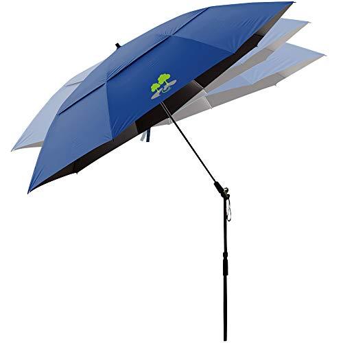Beach Umbrella, Portable Outdoor Sun Beachs Umbrellas, 100% Antiultraviolet, 100% Waterproof, 360° Tilt,Navy Blue