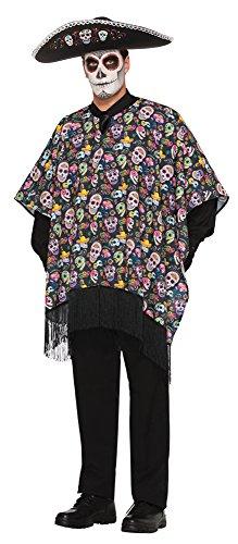 Bristol Novelty 77145 - Disfraz de Serape de Día de los Muertos, talla única