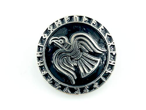 Patch Nation Odin Rabe Rüstung Viking Wikingers Silber Metal Pin Badge Brosche