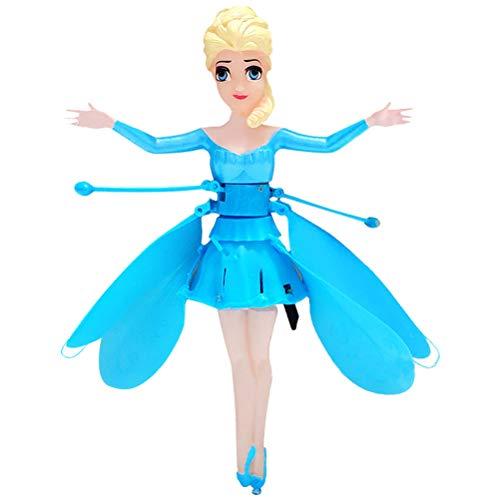 BSTCAR Fliegende Fee, Fliegendes Spielzeug RC Puppe Induktionssteuerung Flugzeug Kinder Prinzessin Spielzeug