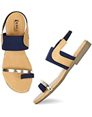Denill Women And Girls Ankle Strap Fashion Sandal (Toe Ring)