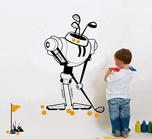 Jkxiansheng 104X77Cm Giocando A Golf Serie Robot Adesivi Murali Decorazioni Per Camerette Decorazioni Per Ragazzi