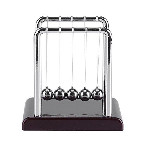 TOPINCN Newton's Cradle 5 Bolas Físicas Juguete De Acero Inoxidable Equilibrio Bola Magnética Hogar Oficina Escritorio Divertido Decoración Cumpleaños (8,5 X 7 X 9 Cm)